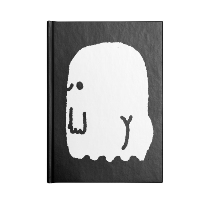 Boo-ty (White) Accessories Blank Journal Notebook by Luis Romero Shop