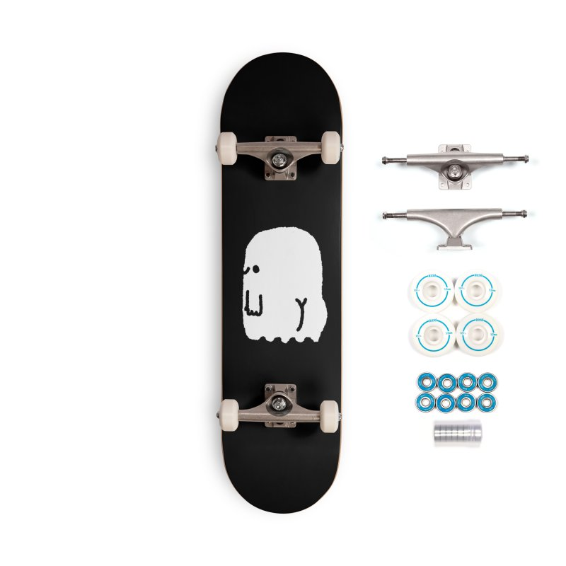 Boo-ty (White) Accessories Complete - Basic Skateboard by Luis Romero Shop