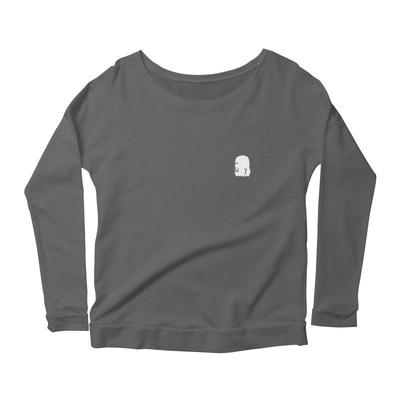 Boo-ty (White) Women's Scoop Neck Longsleeve T-Shirt by Luis Romero Shop