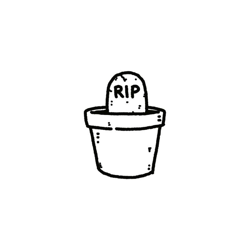 Rest In Pot (Black) Women's V-Neck by Luis Romero Shop