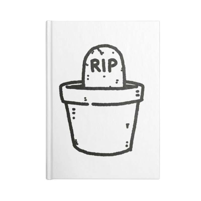 Rest In Pot (Black) Accessories Blank Journal Notebook by Luis Romero Shop