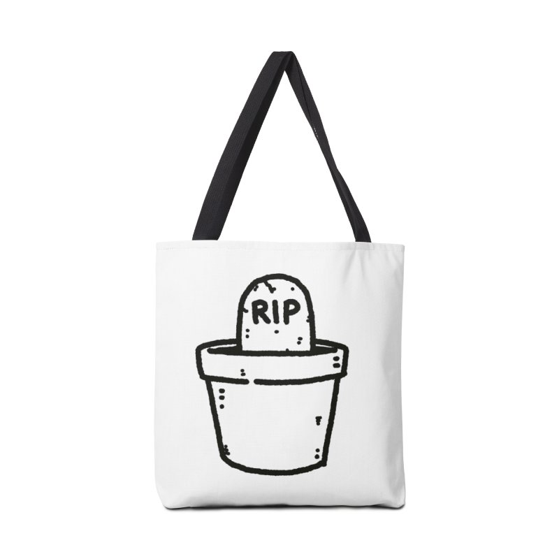 Rest In Pot (Black) Accessories Tote Bag Bag by Luis Romero Shop