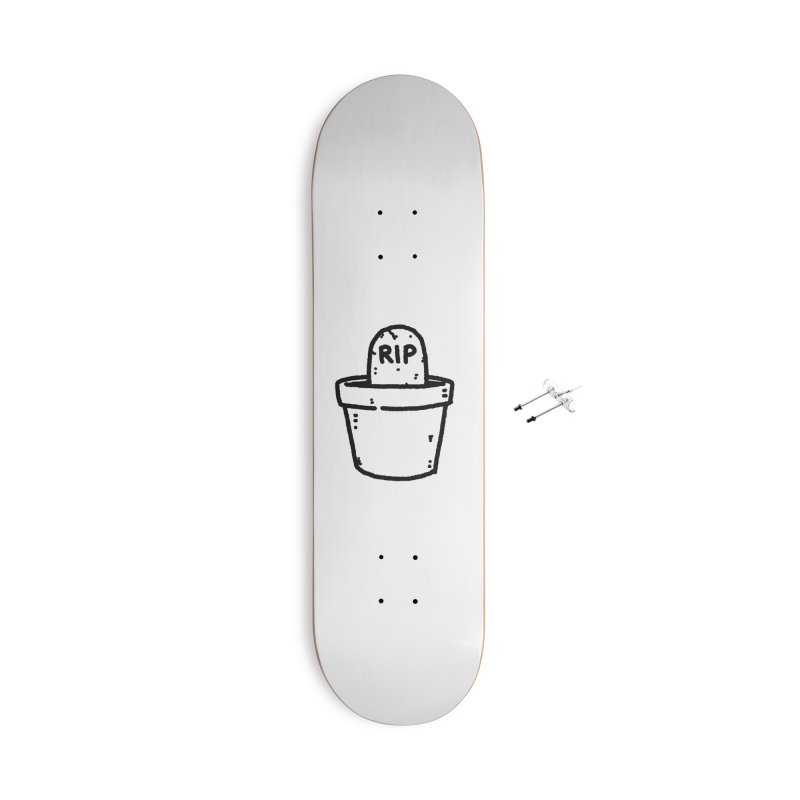 Rest In Pot (Black) Accessories With Hanging Hardware Skateboard by Luis Romero Shop