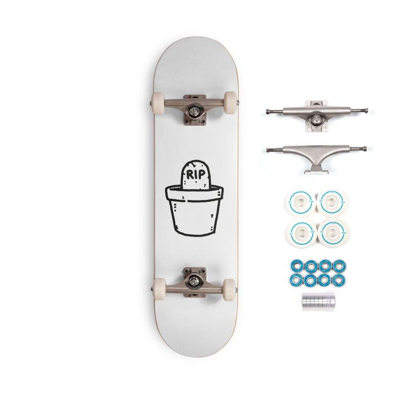 Rest In Pot (Black) Accessories Complete - Basic Skateboard by Luis Romero Shop