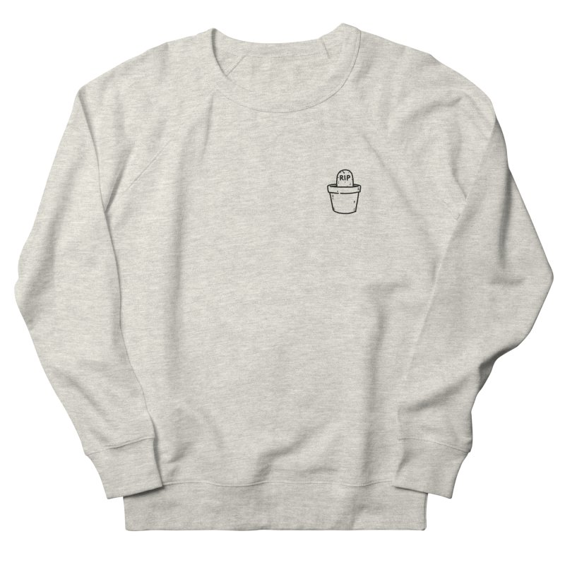 Rest In Pot (Black) Men's French Terry Sweatshirt by Luis Romero Shop
