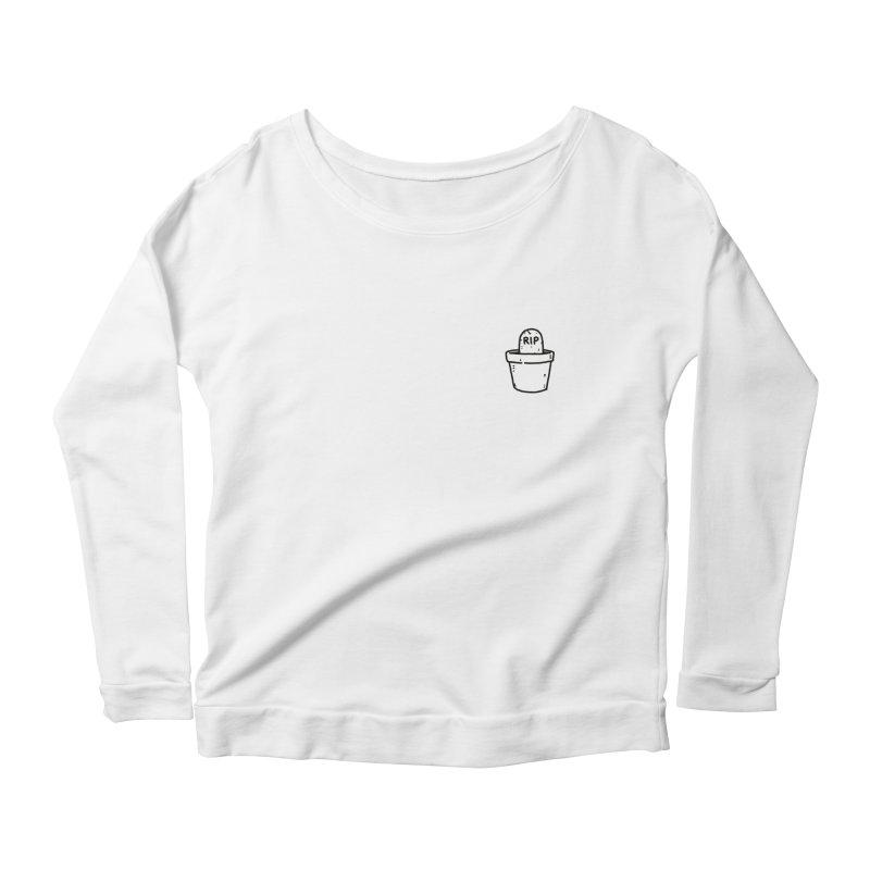 Rest In Pot (Black) Women's Scoop Neck Longsleeve T-Shirt by Luis Romero Shop