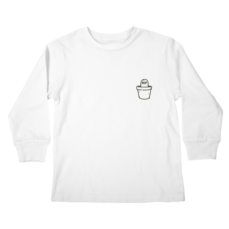 Rest In Pot (Black) Kids Longsleeve T-Shirt by Luis Romero Shop