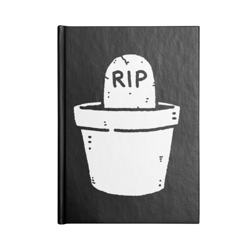 Rest In Pot (White) Accessories Lined Journal Notebook by Luis Romero