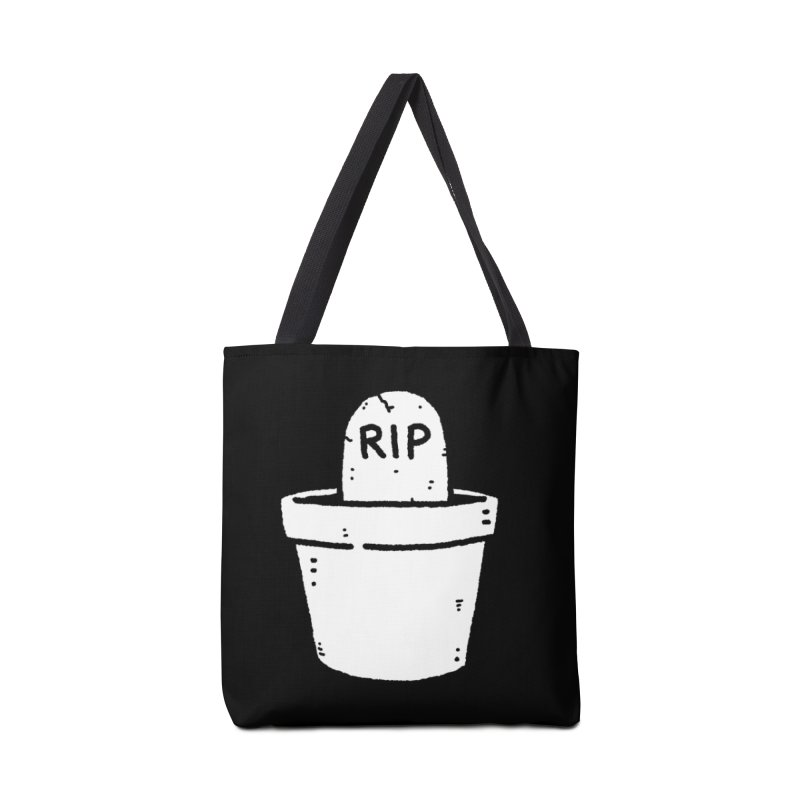 Rest In Pot (White) Accessories Tote Bag Bag by Luis Romero Shop