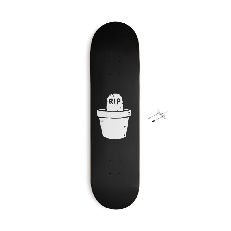 Rest In Pot (White) Accessories With Hanging Hardware Skateboard by Luis Romero Shop
