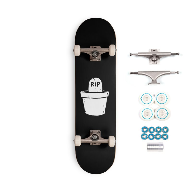 Rest In Pot (White) Accessories Complete - Basic Skateboard by Luis Romero Shop