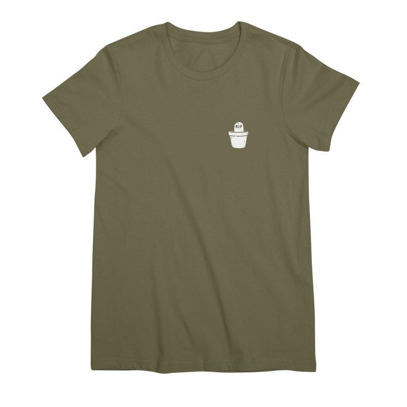 Rest In Pot (White) Women's Premium T-Shirt by Luis Romero Shop