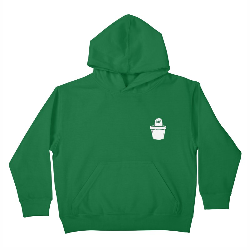 Rest In Pot (White) Kids Pullover Hoody by Luis Romero Shop