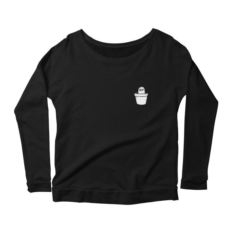 Rest In Pot (White) Women's Scoop Neck Longsleeve T-Shirt by Luis Romero Shop