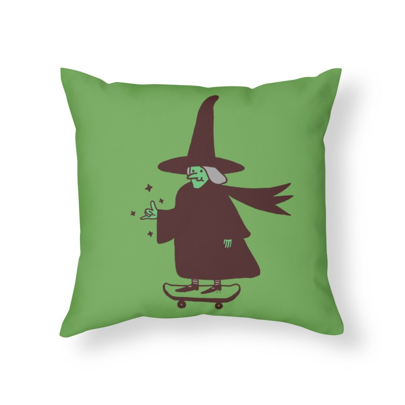 Witchin' Home Throw Pillow by Luis Romero Shop