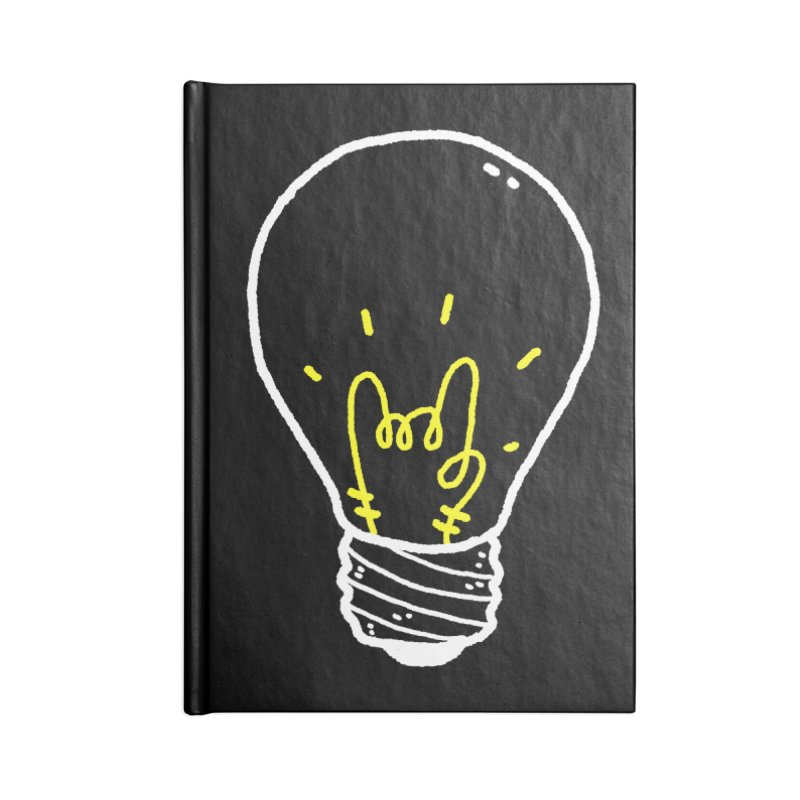 Light Rock Accessories Lined Journal Notebook by Luis Romero