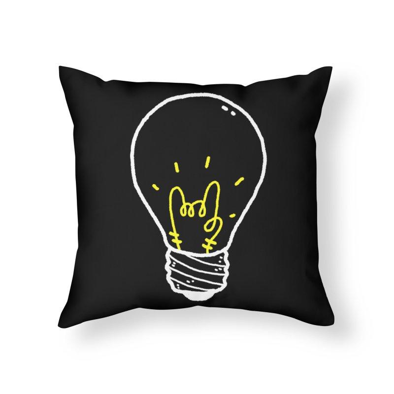 Light Rock Home Throw Pillow by Luis Romero