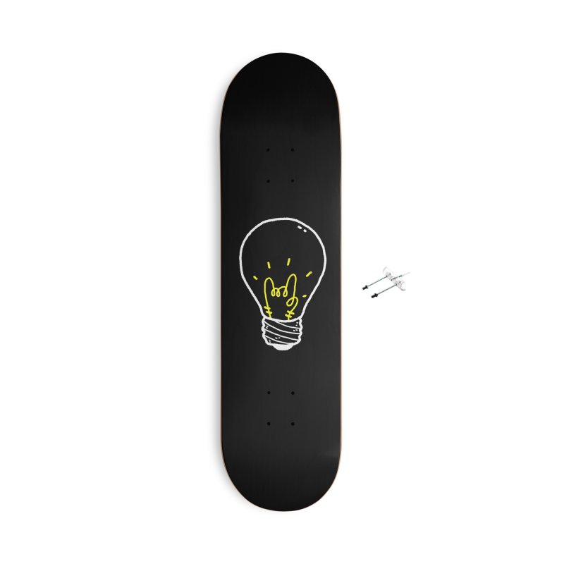 Light Rock Accessories With Hanging Hardware Skateboard by Luis Romero