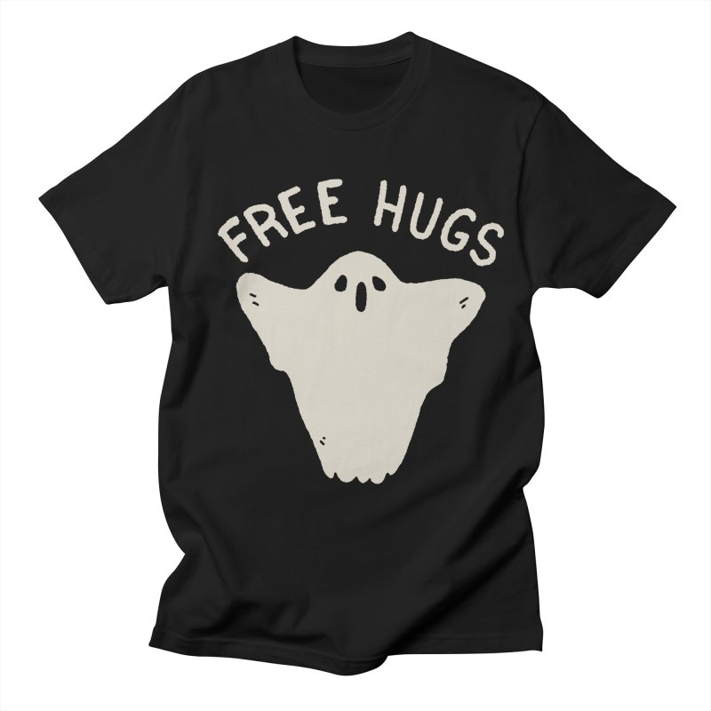 Free Hugs in Men's Regular T-Shirt Black by Luis Romero