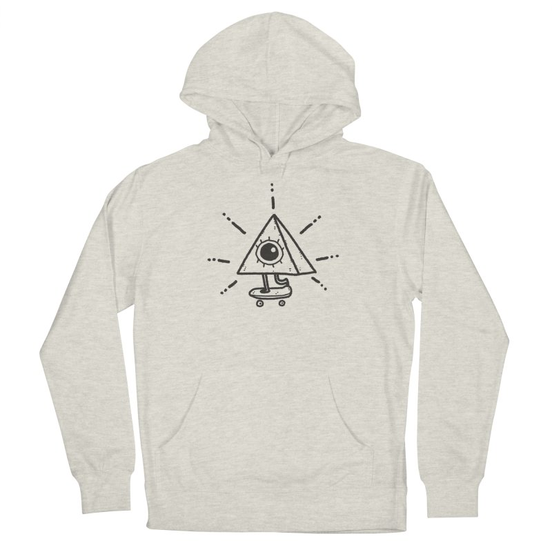 All-Shredding Eye Men's French Terry Pullover Hoody by Luis Romero