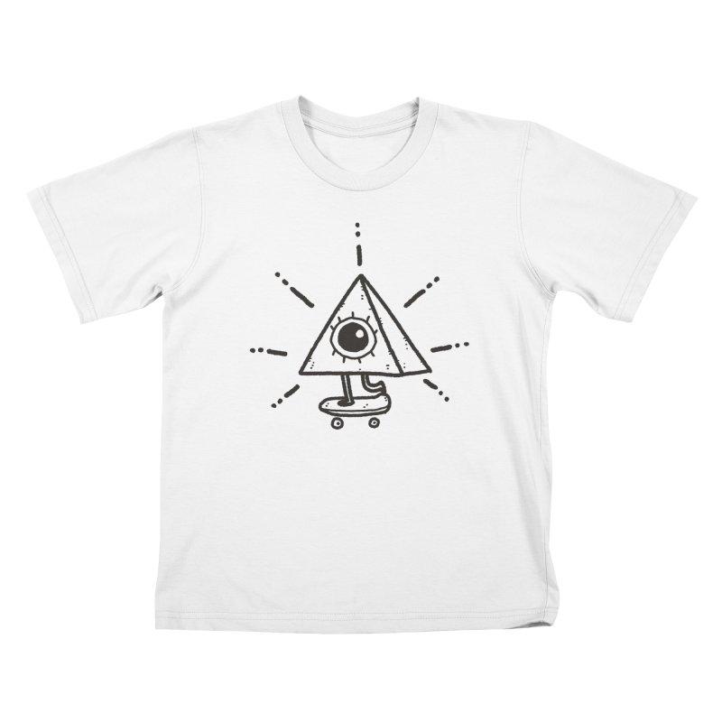 All-Shredding Eye Kids T-Shirt by Luis Romero