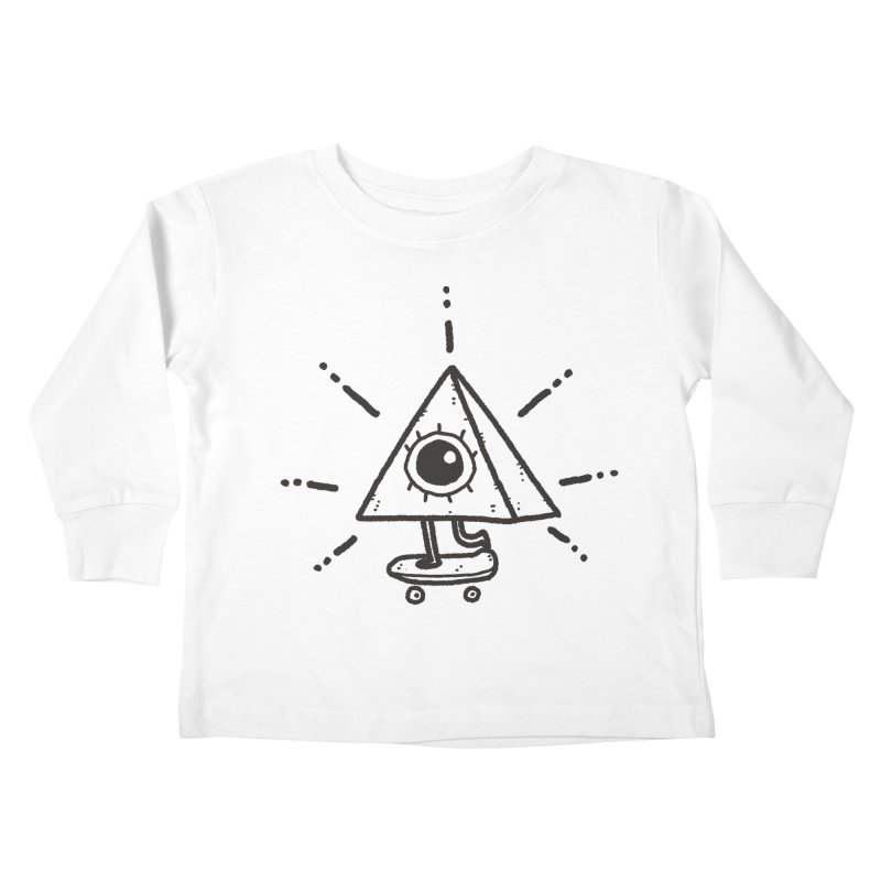 All-Shredding Eye Kids Toddler Longsleeve T-Shirt by Luis Romero