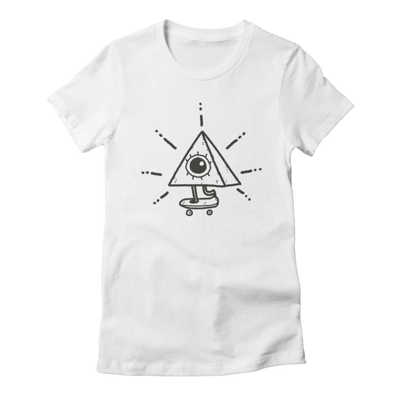 All-Shredding Eye Women's Fitted T-Shirt by Luis Romero Shop
