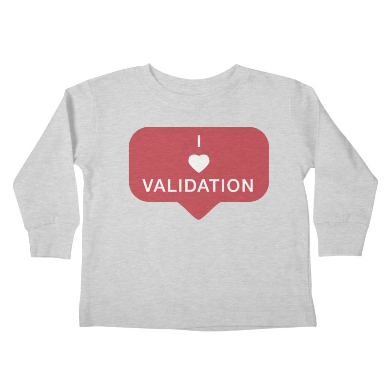 Validation Kids Toddler Longsleeve T-Shirt by Luis Romero