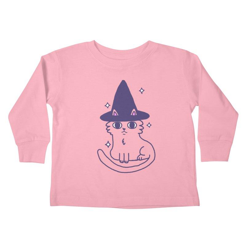 Magicat Kids Toddler Longsleeve T-Shirt by Luis Romero