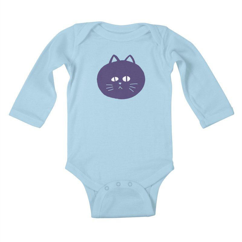 Meow Kids Baby Longsleeve Bodysuit by Luis Romero