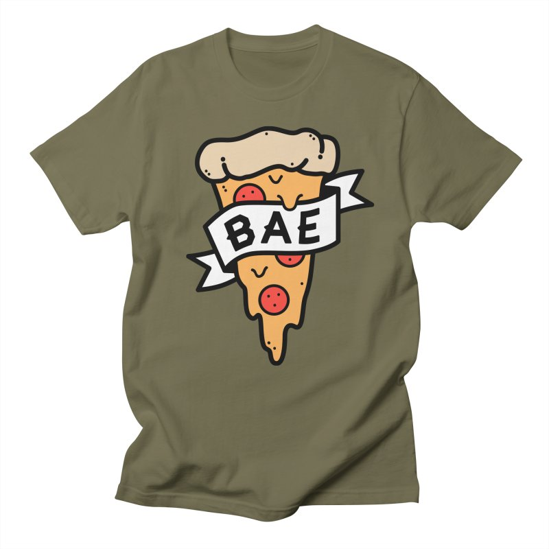 Pizza Bae Men's Regular T-Shirt by Luis Romero