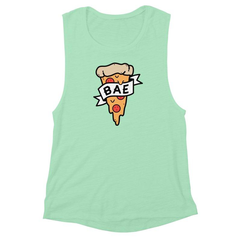 Pizza Bae Women's Muscle Tank by Luis Romero