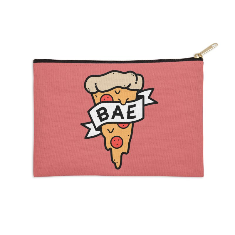Pizza Bae Accessories Zip Pouch by Luis Romero