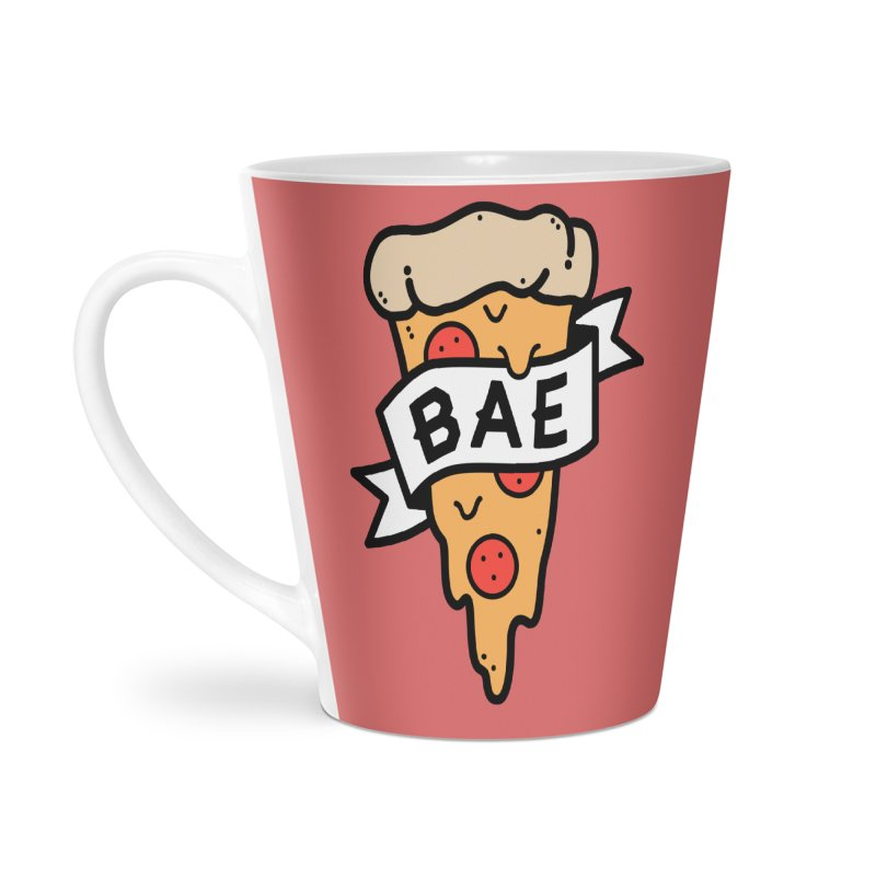 Pizza Bae Accessories Latte Mug by Luis Romero Shop