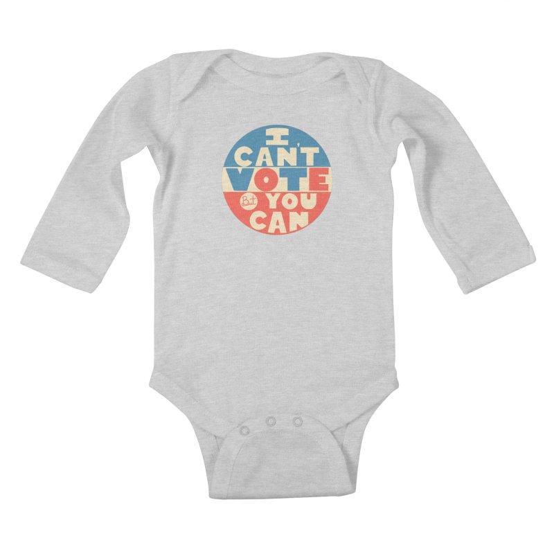 I Can't Vote Kids Baby Longsleeve Bodysuit by Luis Romero