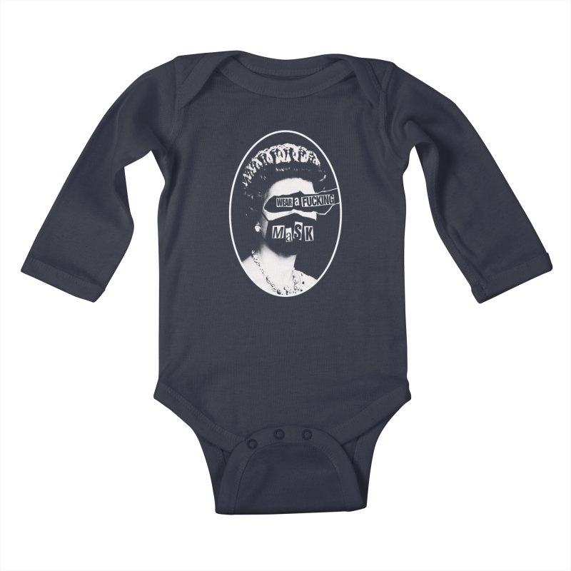 Masks Save The Queen Kids Baby Longsleeve Bodysuit by Luis Romero