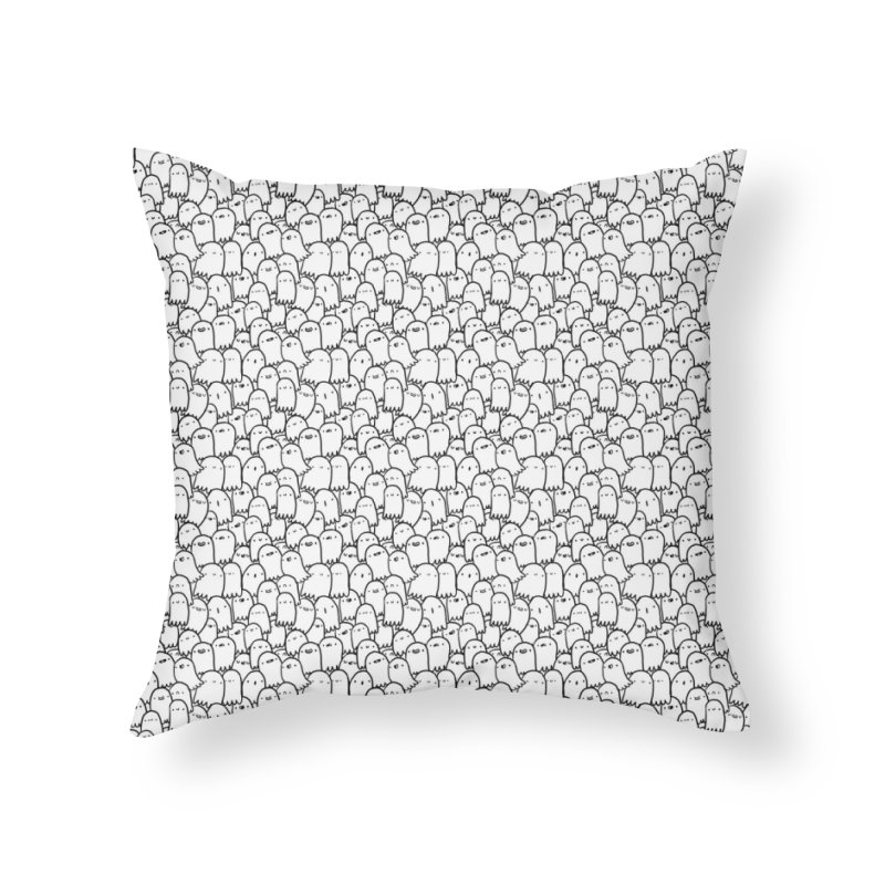Haunted Home Throw Pillow by Luis Romero