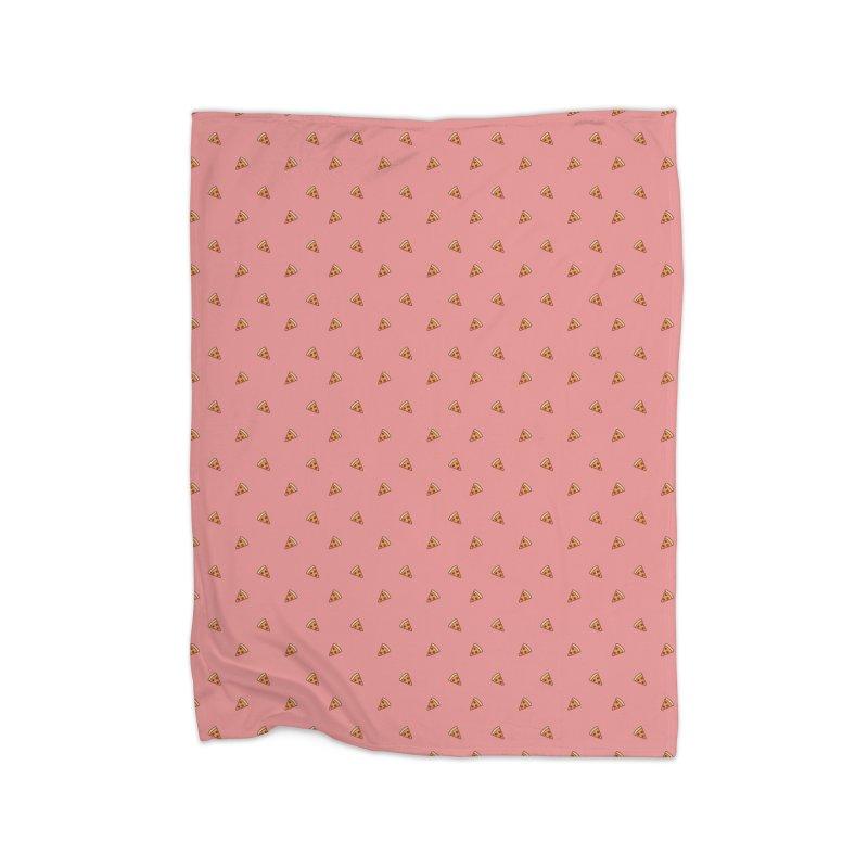 Pizza Party Home Fleece Blanket Blanket by Luis Romero Shop