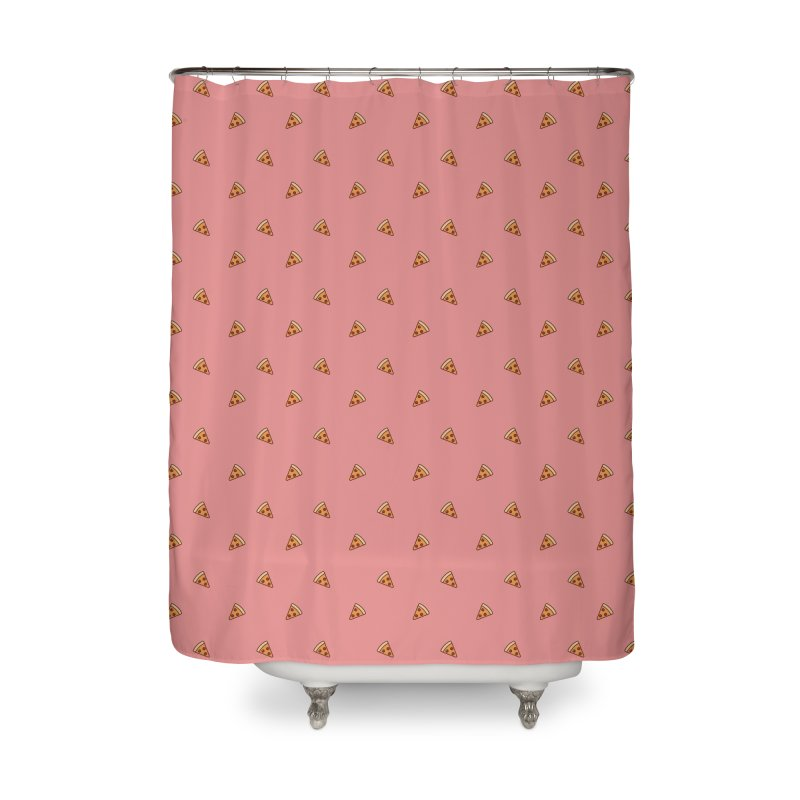 Pizza Party Home Shower Curtain by Luis Romero