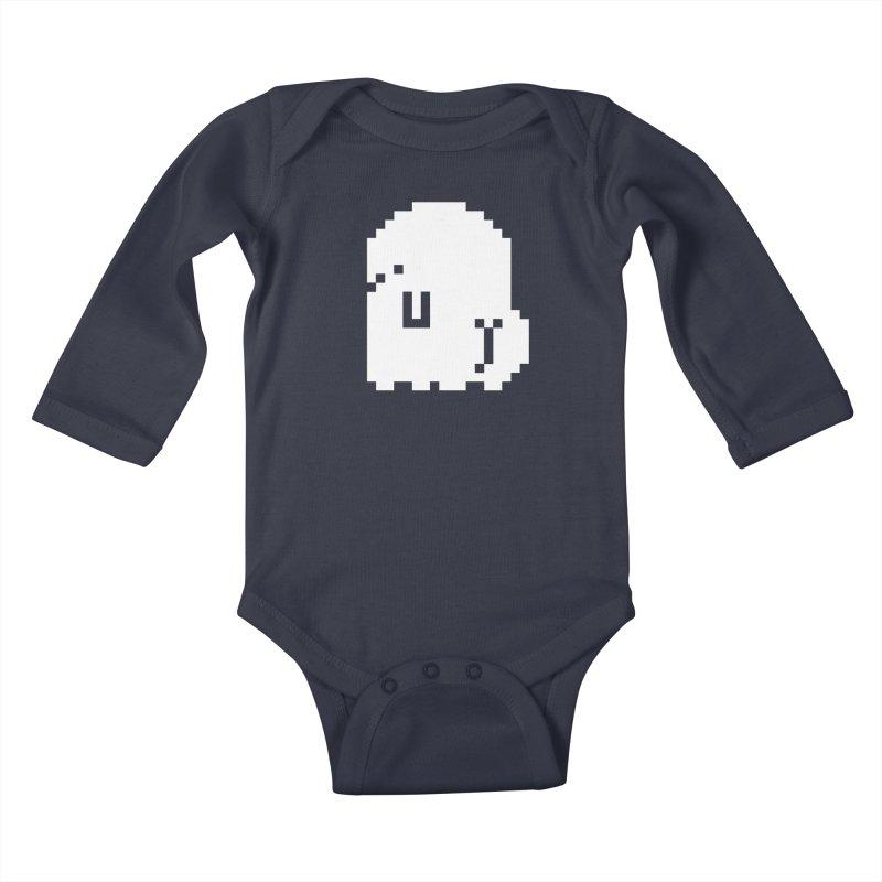 Booty (8-Bit) Kids Baby Longsleeve Bodysuit by Luis Romero