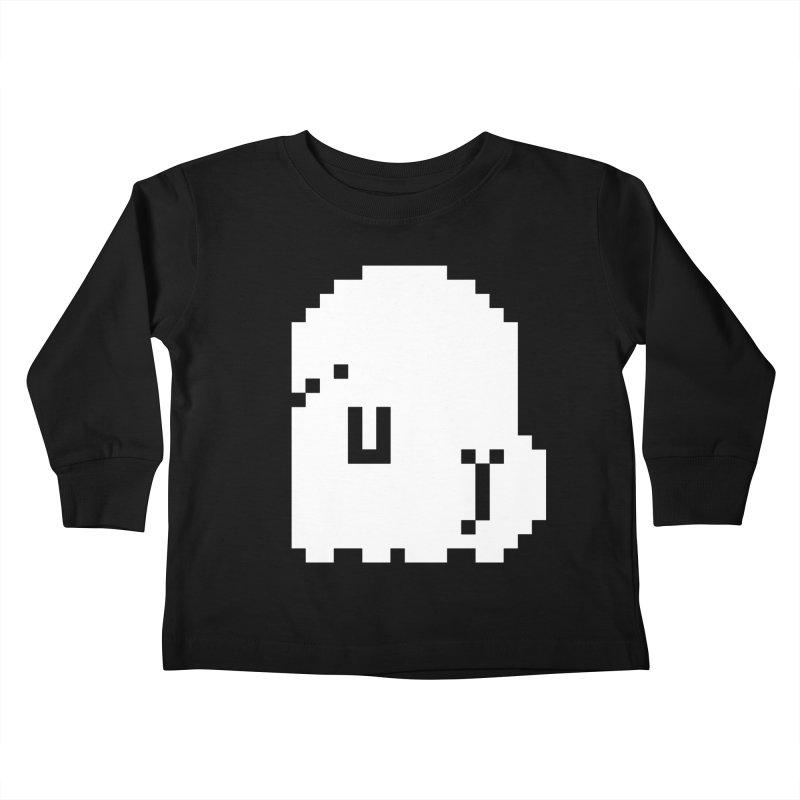 Booty (8-Bit) Kids Toddler Longsleeve T-Shirt by Luis Romero
