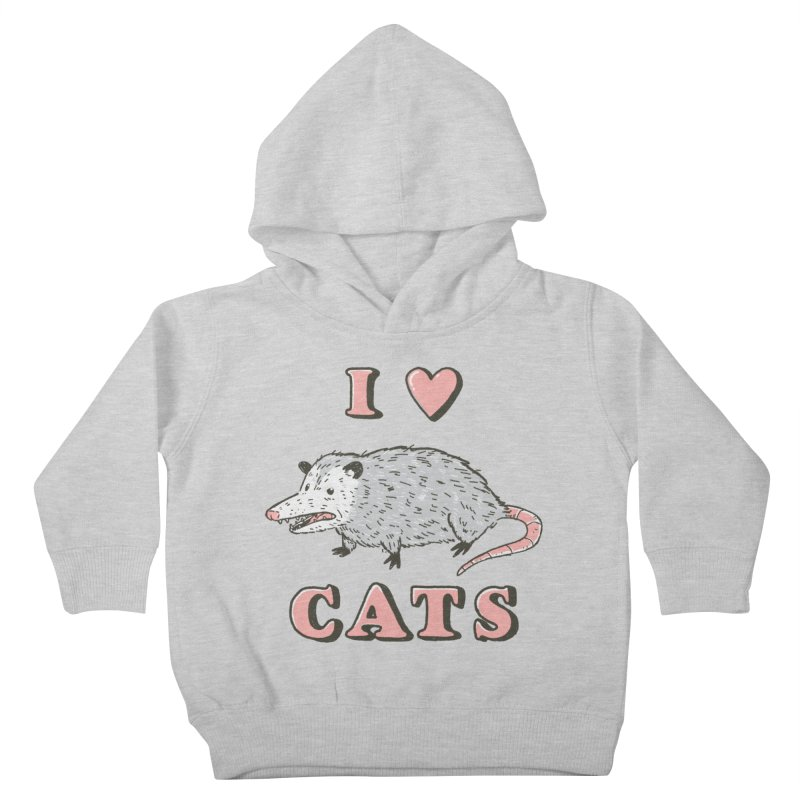 I heart cats Kids Toddler Pullover Hoody by Luis Romero