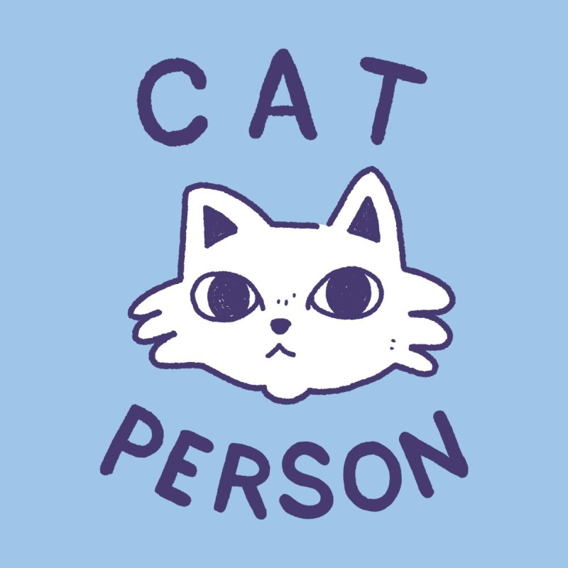 Cat Person Kids Baby T-Shirt by Luis Romero