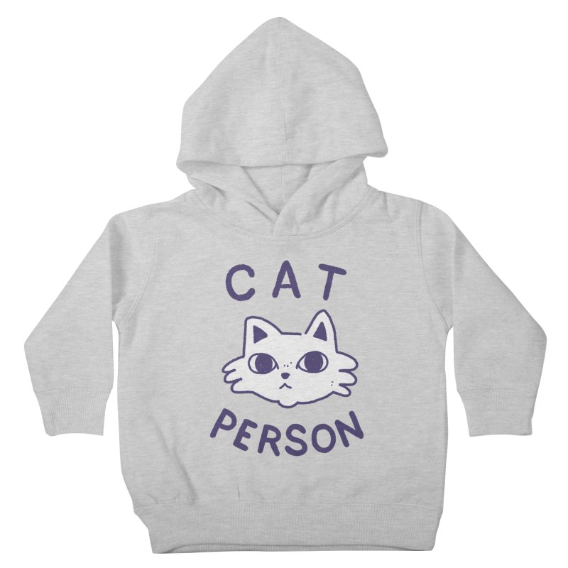 Cat Person Kids Toddler Pullover Hoody by Luis Romero