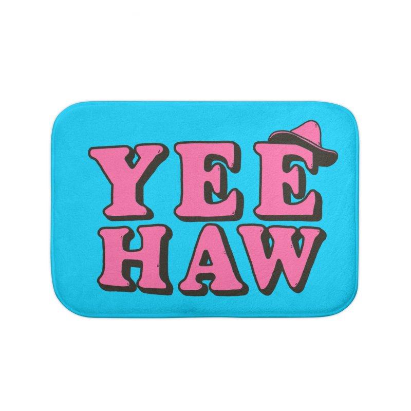 Yee-haw Home Goods Bath Mat by Luis Romero