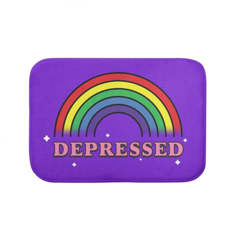 Depressed Home Goods Bath Mat by Luis Romero