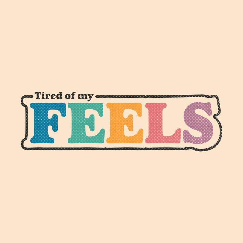 Tired of My Feels Women's Zip-Up Hoody by Luis Romero
