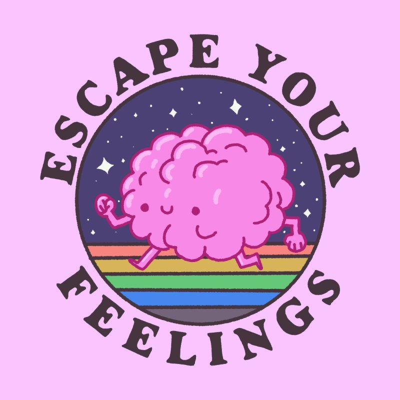 Escape your feelings Accessories Greeting Card by Luis Romero