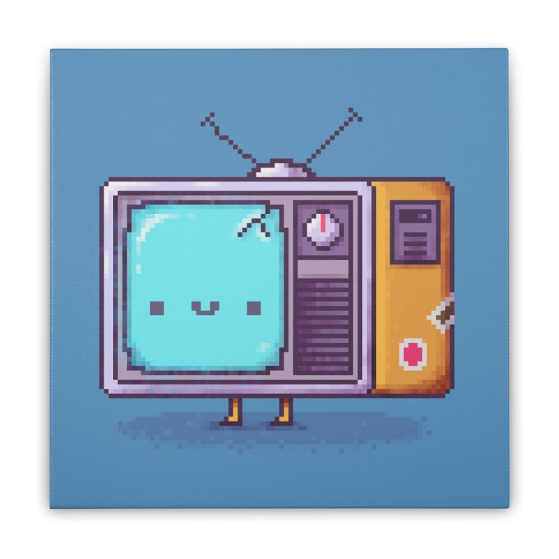 Tv Guy Home Goods Stretched Canvas by Luis Romero