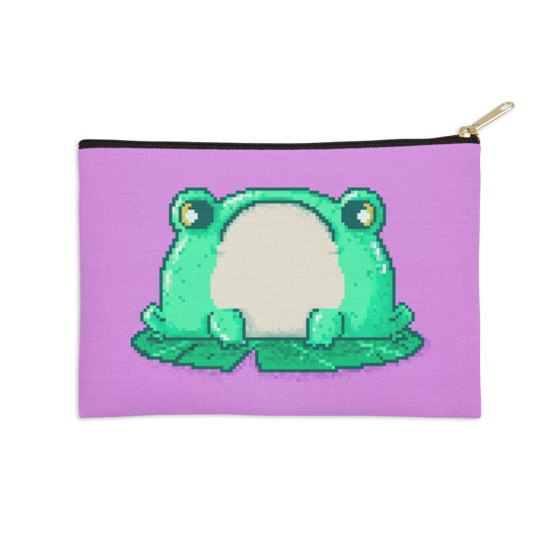 Frog Accessories Zip Pouch by Luis Romero